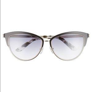 Calvin Klein 57mm Cat Eye Sunglasses in Black